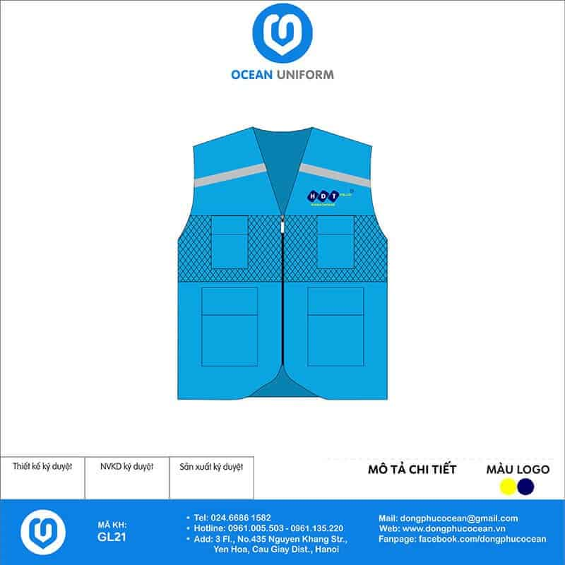 May áo khoác Gile đồng phục Công ty HDT