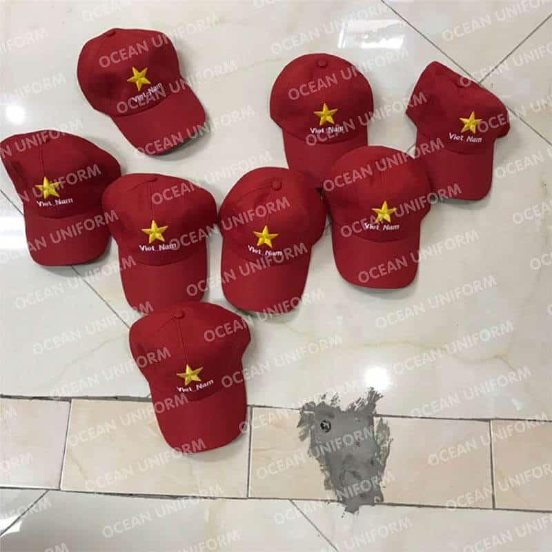 Mũ cờ đỏ sao vàng các loại
