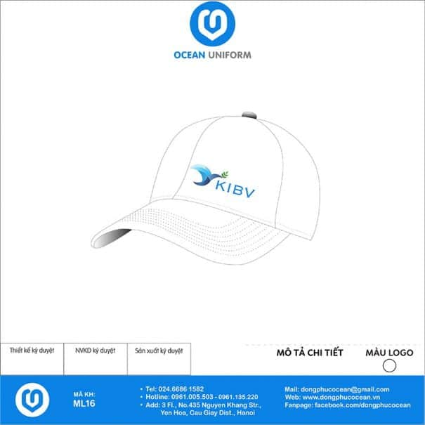 Mũ đồng phục Công ty KIBV