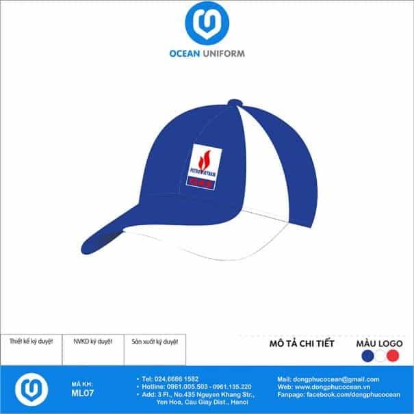 Mũ đồng phục Gas PetroVietnam