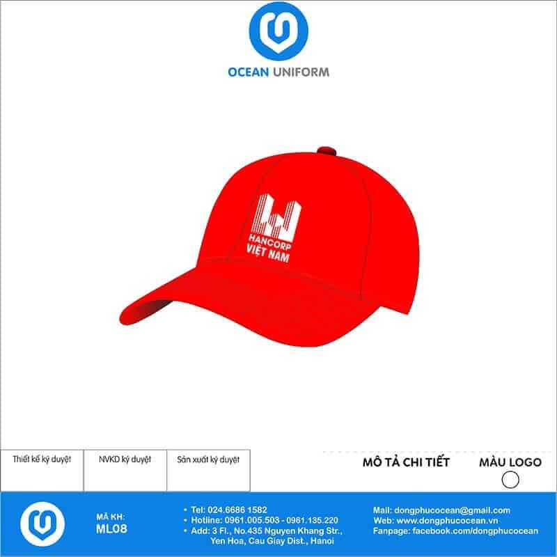Mũ đồng phục HANCORP Việt Nam