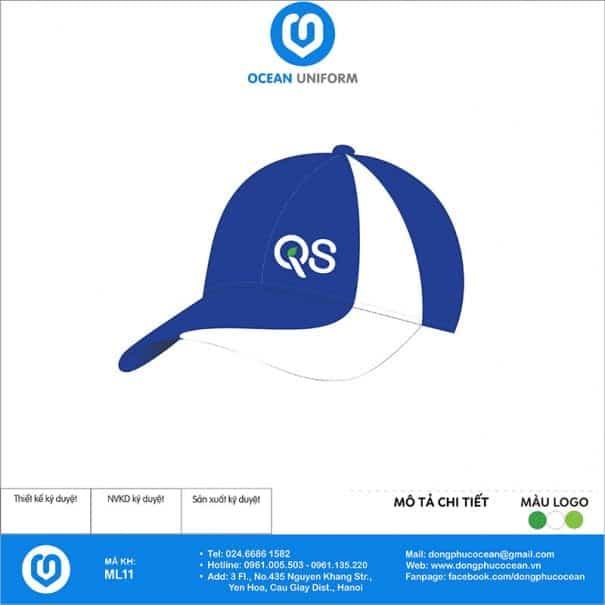 Mũ đồng phục Công ty QS Việt Nam