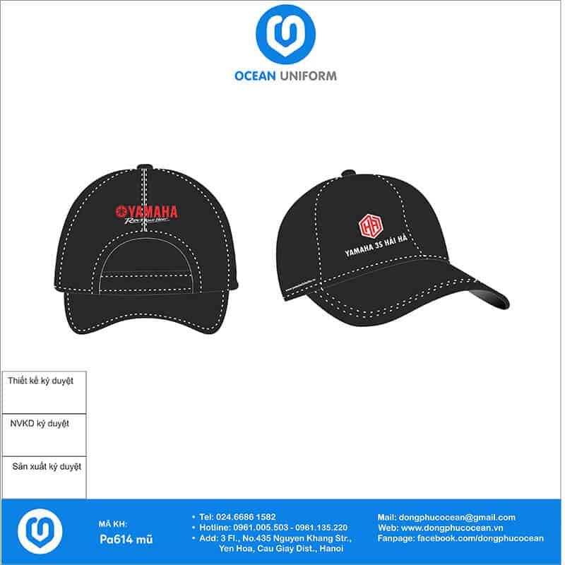 Mũ đồng phục Yamaha 3S Hải Hà