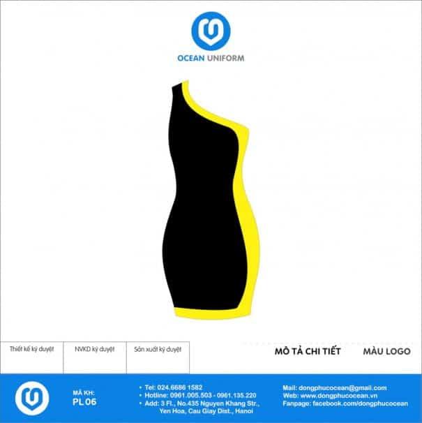 Váy đồng phục PG màu vàng đen