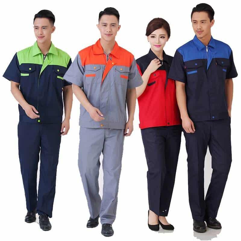 In áo đồng phục công nhân