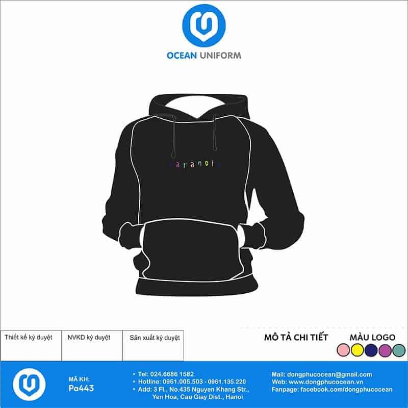 Áo hoodie chữ neon