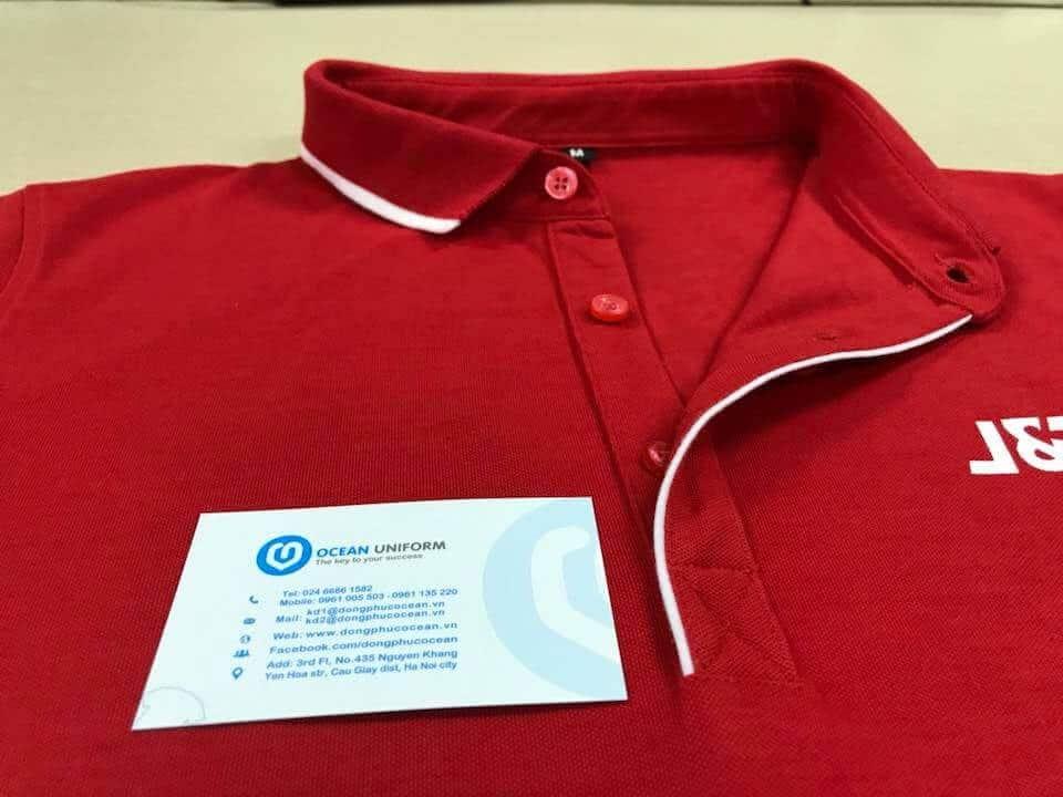 Hình ảnh chi tiết đường may trên áo của Đồng phục Ocean