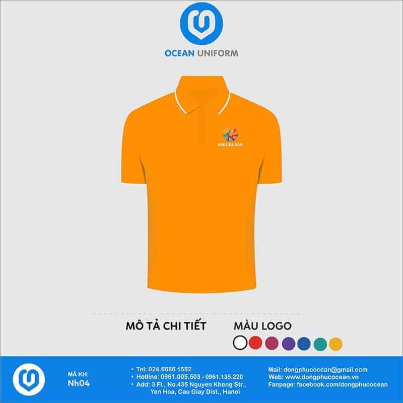 In áo phông theo yêu cầu màu cam