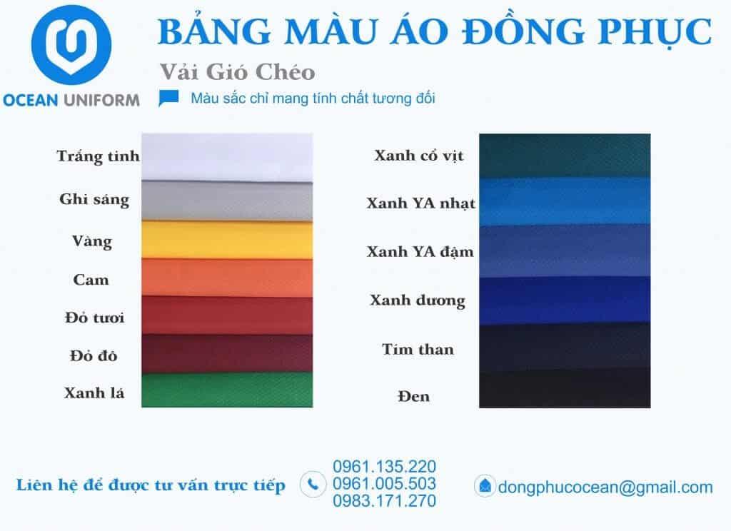 Vải gió chéo in áo theo yêu cầu mang tính thẩm mỹ cao