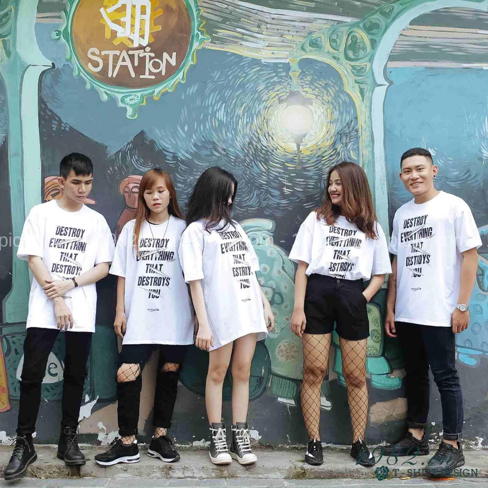 Áo đồng phục nhóm trẻ trung cá tính