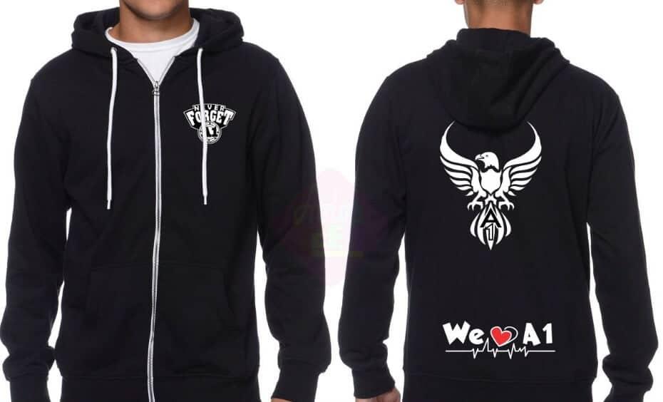 Áo hoodie đen cá tính