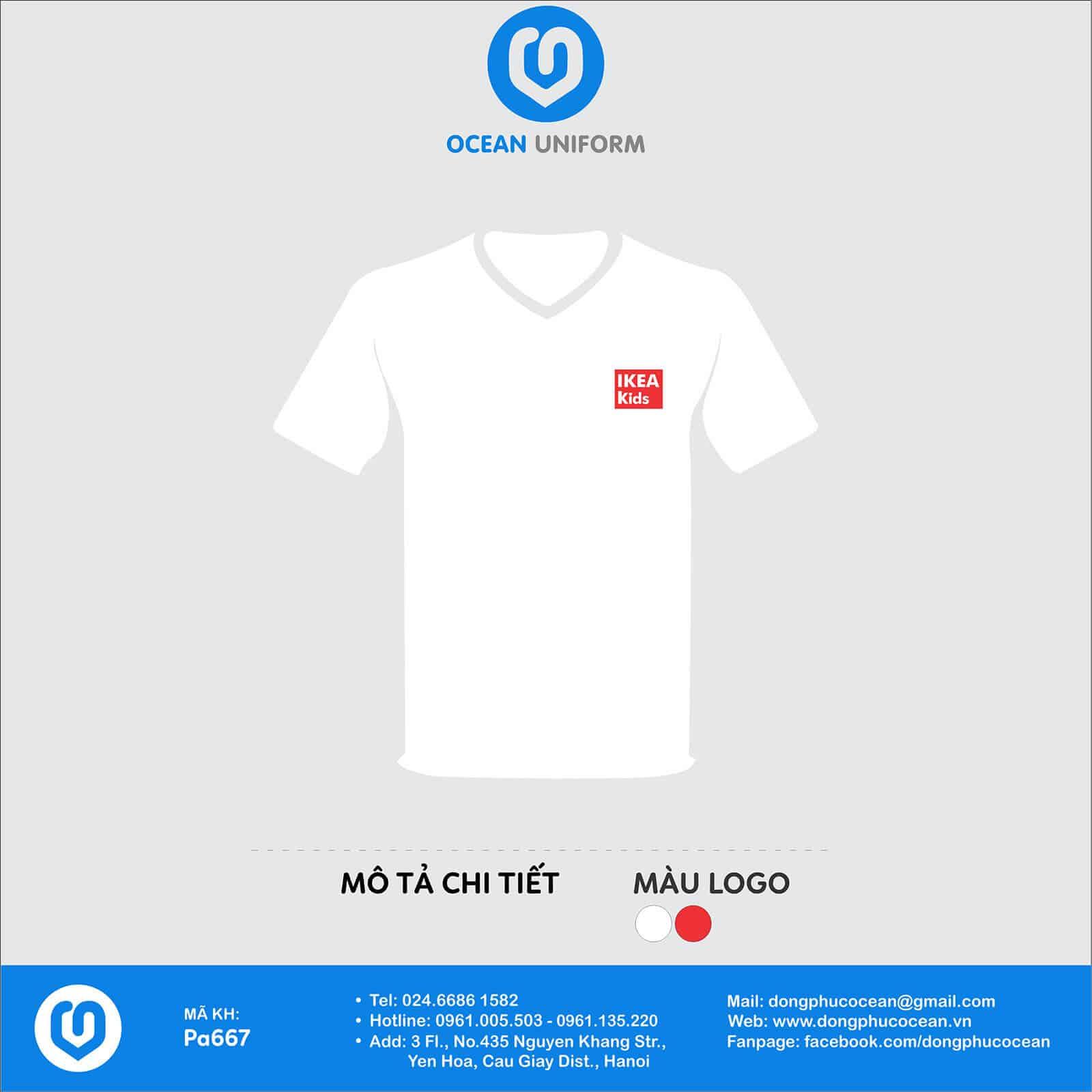 In áo phông màu trắng dễ mặc phù hợp với mọi lứa tuổi
