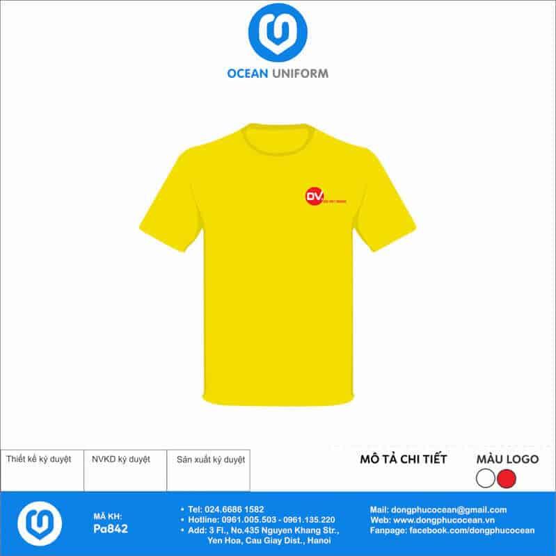 Áo phông màu vàng trẻ trung năng động