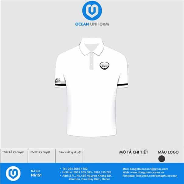 In áo phông màu trắng đơn giản, thanh lịch