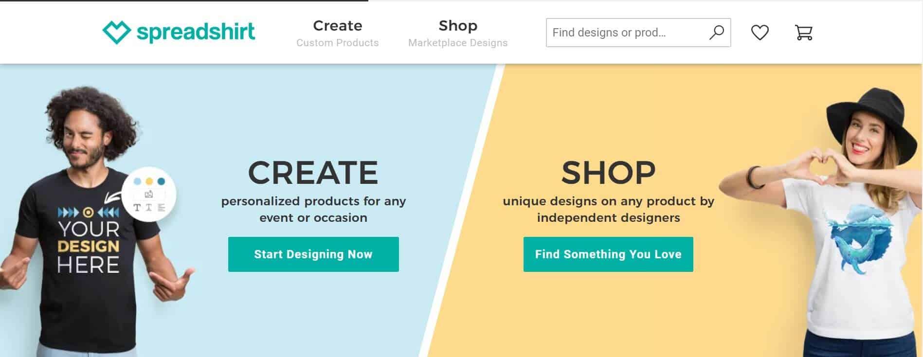Phần mềm thiết kế Spreadshirt
