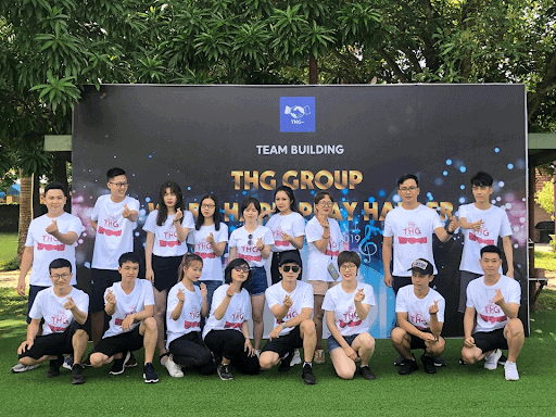 Áo thun đồng phục team bulding THG group