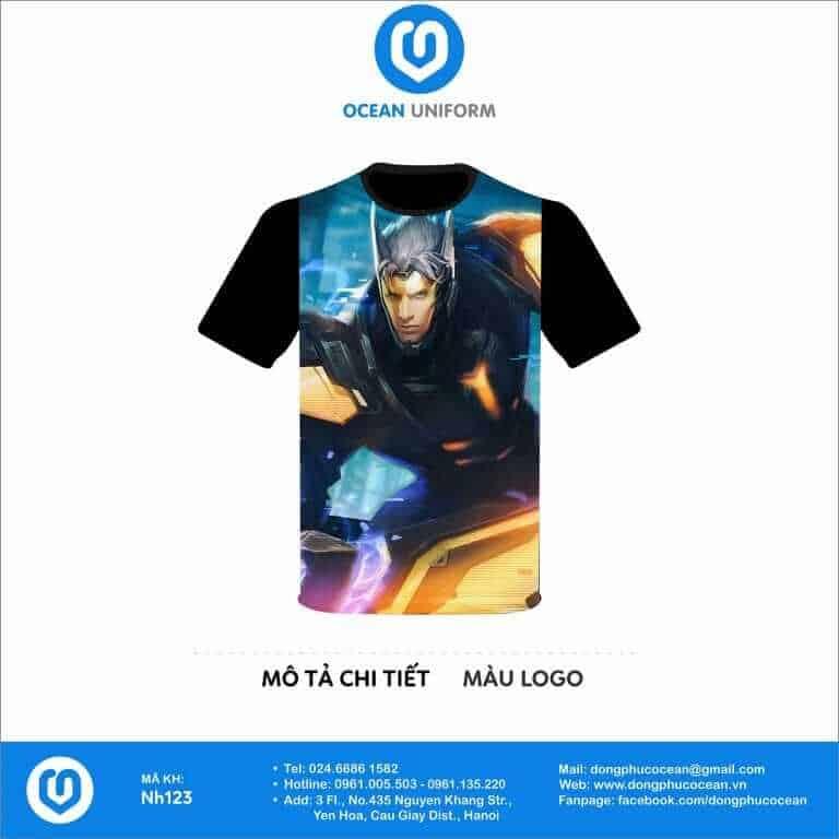 Áo đồng phục lớp 3D galaxy game liên quân Nakroth siêu việt