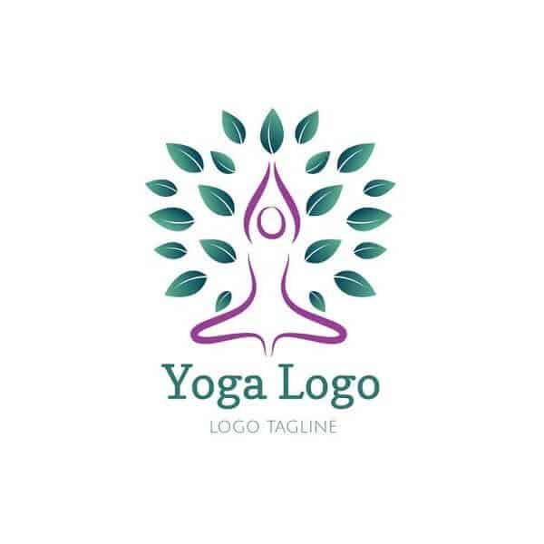 Logo yoga đơn giản thanh thoát