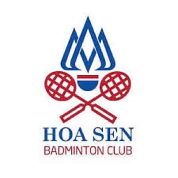 Logo câu lạc bộ cầu lông hoa sen