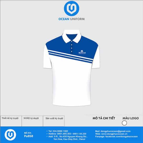 Áo màu trắng nổi bật kết hợp sắc xanh