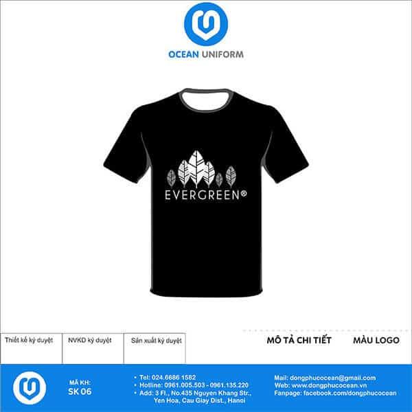 Mẫu áo sự kiện EverGreen màu đen sang trọng lịch sự