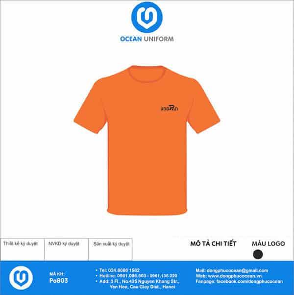 Áo thun trơn màu cam tươi trẻ