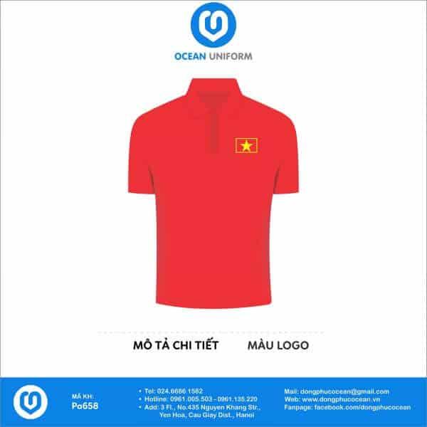 Áo cờ đỏ sao vàng được đặt may tại Đồng phục Ocean