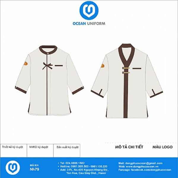 Áo đồng phục nhân viên massage cho nam với thiết kế lạ mắt