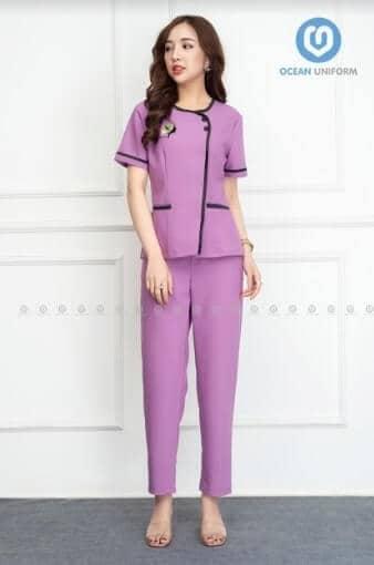 Thiết kế trang nhã dịu dàng với đồng phục màu tím