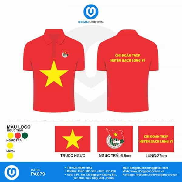 Áo cờ Việt Nam đoàn thanh niên