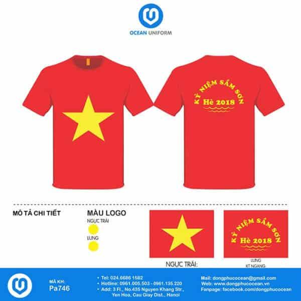 Áo cờ Việt Nam đi du lịch