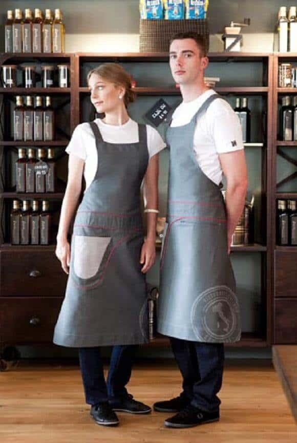 Đồng phục quán cà phê phong cách Scandinavian