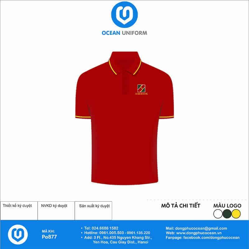 Áo đồng phục màu đỏ dành cho nhân viên