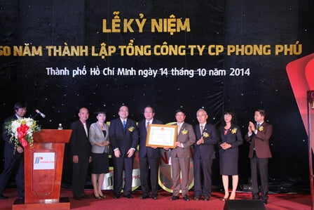 Lễ kỷ niệm 60 năm thành lập công ty may mặc Phong Phú