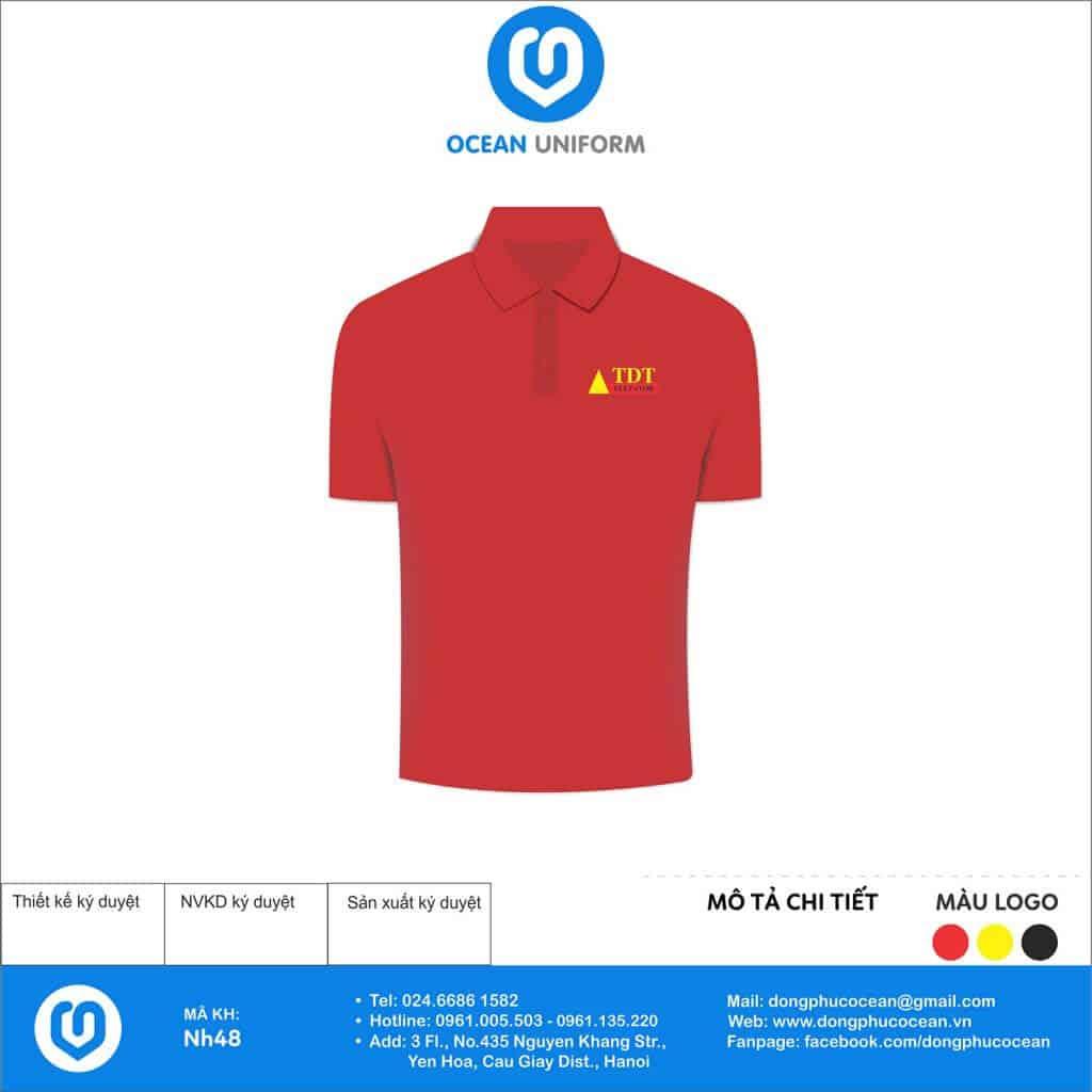 Mẫu áo đồng phục Công ty CP đầu tư và phát triển TDT