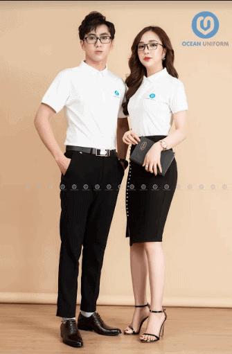 Mẫu áo đồng phục lớp màu trắng trang nhã