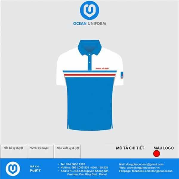 Mẫu áo cổ bẻ của Công ty PV OIL