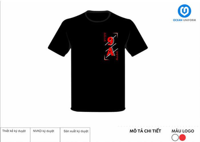 Áo lớp 9A màu đen