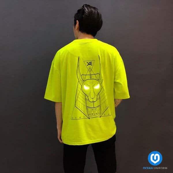Áo lớp màu vàng neon phản quang
