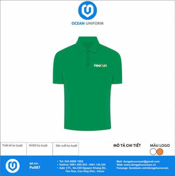 Áo phông đồng phục công sở Công ty Heesun Việt Nam