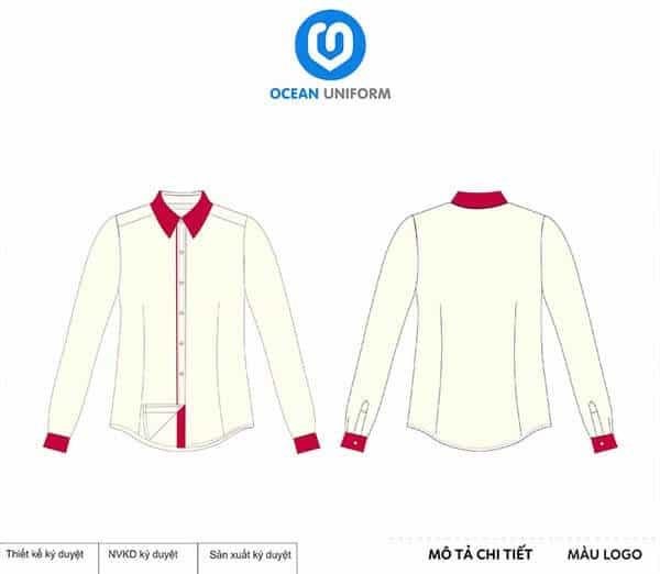 Áo đồng phục lễ tân màu hồng