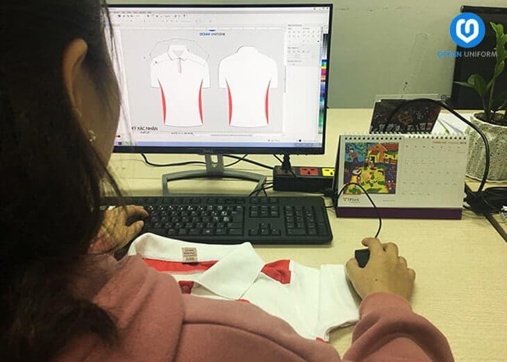 Đồng phục Ocean thiết kế áo miễn phí cho khách hàng