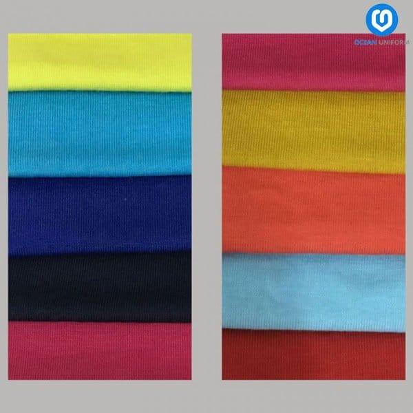 Sản phẩm vải Cotton 65/35 đem đến cảm giác thoải mái cho người mặc nhưng vẫn giữ được form áo không bị chảy, đổ khi sử dụng lâu.