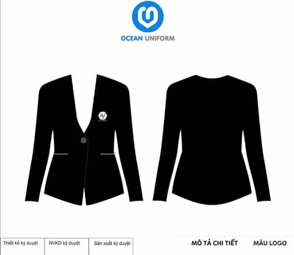 Áo vest đen quản lý
